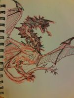 Dragon sketch by albinoblackdude9