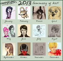 2013 Summary of Art by fairygodpiggy