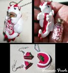 Christmas Dragon and Cake Set Jewelry by prismaticpearls