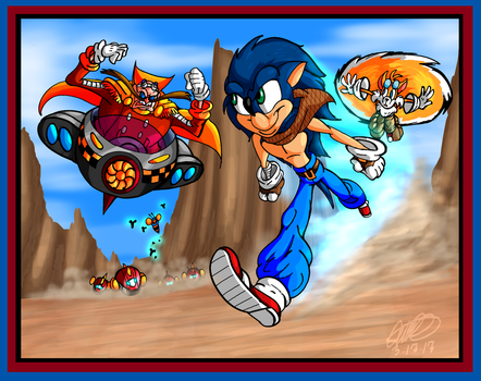 Sonic v Eggman - Blast that Hedgehog by GearGades