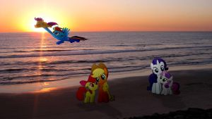 Sisters In The Sunset by Macgrubor