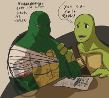 tmnt RD Trying new ways by Dragona15