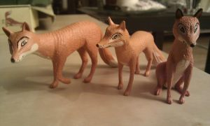 Farthing wood Hornby Foxfamily by CrocodileRawk