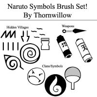 Naruto Symbol Brush Set by thornwillow