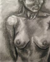 Gesture Drawing - Charcoal Detail by SodaPutOnPasta