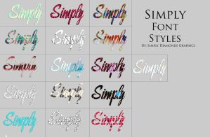 Font Style Pack 2 by SimplyDiamonds