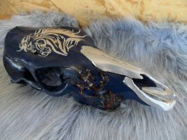 Silver Horse skull by Chance969