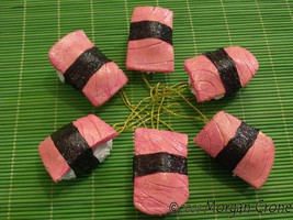 Sushi Ornaments-salmon- by MorganCrone