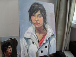3 hours oil painting 20 by curryQ