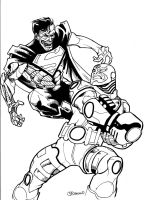 Cyborg vs Cyborg Superman by guinnessyde