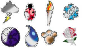 Ophoore Gym Badges by PrincessPoutee
