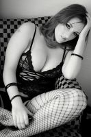 Nessa Checkers and fishnets 01 by DR0ck