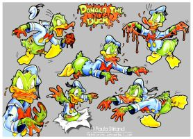 Donald the Undead Duck by hatefueled