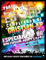 FLYER PARTY CRISTIAN XP by skingcito