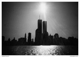 Rememberance:  WTC Silhouette by Foxfires