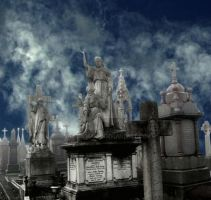 Cemetery in the sky by Gothicmama