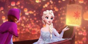 Elsa and Anna in Tangled by frozen-lover-12