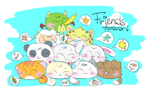 Friends Are Also Family! :3 by AmBerDaCat