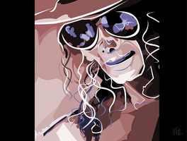 Michael Jackson Vector Tribute Poster by Grasuc