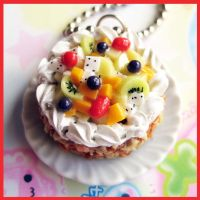 Tropical Fruit Cake Necklace by cherryboop