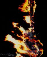 Fire playing Guitar by mvlaniel