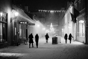 snowstorm in old town by dzorma