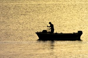 Fisherman's sunset by photosopher