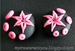 Polymer Clay Beads B363 by snowskin