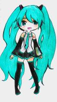 Chibi Miku by Melody-in-the-Air