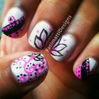 Pink and Black Lotus by FatimattiDesigns