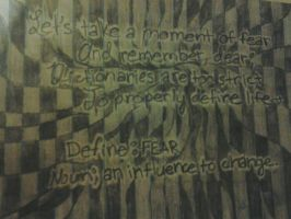 'Define: Fear' Poetry Wall Design by LMW-Creations