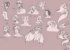 07.12.12 sketches by MoonLightRose17