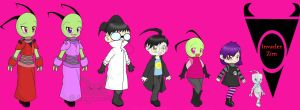 Invader Zim Character Lineup by bunnypower236