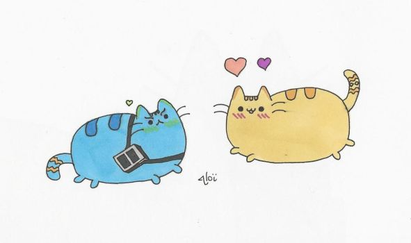 Spirk Pusheen - Gift for Aibushy by AloiInTheSky