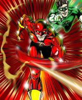 Flash and Green Lantern clr by lenlenlen1
