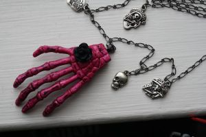 Day of the Dead Celebration Necklace by applepiepinups