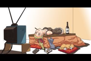 Lazy at home by gamera1985