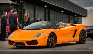 Orange Lamborghini Gallardo Convertible by RaynePhotography