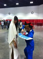 AX day 1 yugi and isis by DrGengar