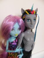 unicorn and nymph.... by child-of-aros