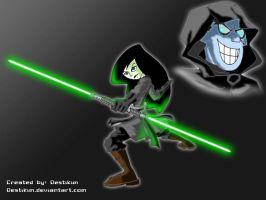 Lord Drakken and Darth Shego by Niban-Destikim