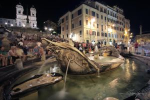Spanish Steps at Night by erman-y
