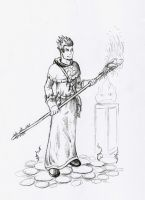 Priest of fire by Vixis24m