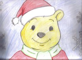Merry Christmas from Pooh Bear by Amisca