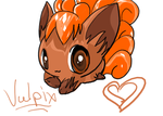 Vulpix in Photoshop by Chaomaster1