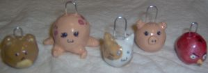 First Clay Charms by TrebleClefChef