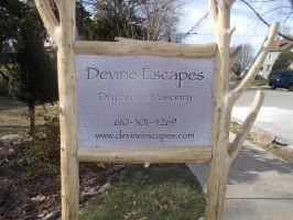 company lawn sign by Devine-Escapes