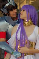 Sasha/Atena and Tenma - Saint Seiya The Lost Canva by mariideathy