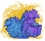 Sketch + Exp color - 'Avid' Readers by Muffinsforever