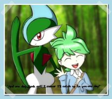 Wally and Gallade by ProlongedAwakening